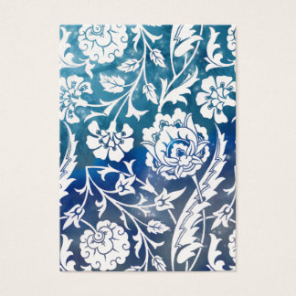 Victorian Arabesque, LADY CIARA - Blue & White Business Card