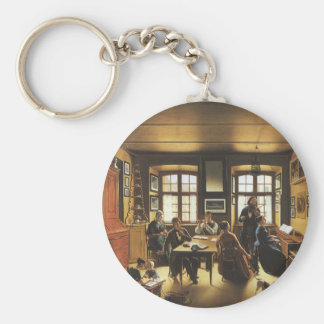 Victorian Art, Basel Family Concert by Gutzwiller Key Ring