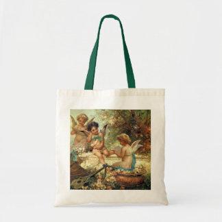 Victorian Art, Musician Angels by Hans Zatzka Budget Tote Bag