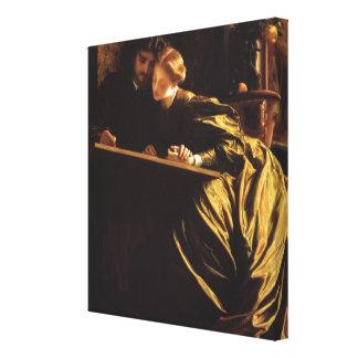Victorian Art, Painter's Honeymoon by Leighton Canvas Print