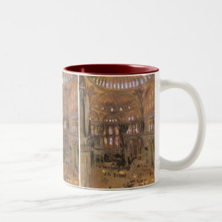 Victorian Art, Sketch of Santa Sophia by Sargent Two-Tone Coffee Mug