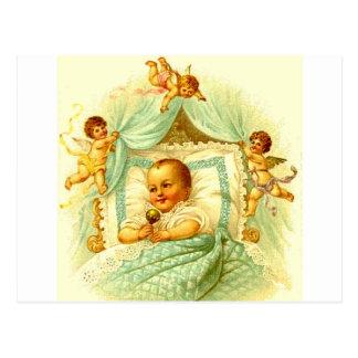 Victorian Baby and Cherubs Vintage Postcard Art