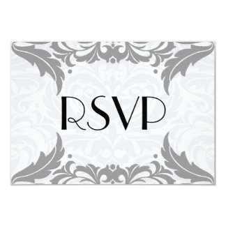 Victorian Baroque Grey Flourish Rsvp Card