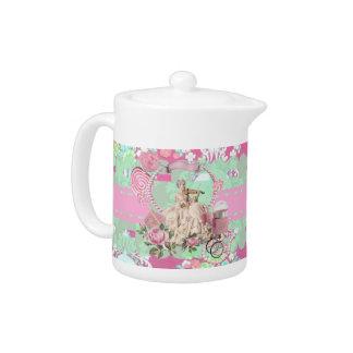 Victorian Baroque Rococò Marie Antoinette teapot