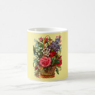 Victorian Basket of Flowers Classic Mug