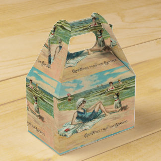 Victorian Beach Swimsuit Girl Favour Box