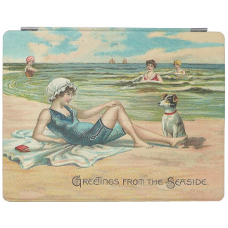 Victorian Beach Swimsuit Girl iPad Cover