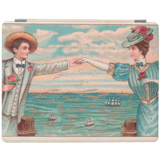 Victorian Beach Wedding Couple iPad Cover