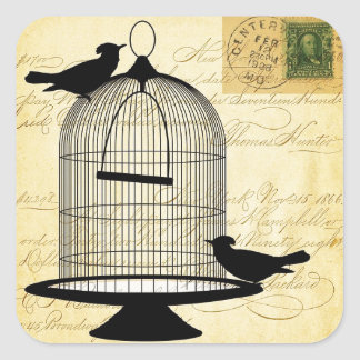 Victorian Birdcage Square Sticker