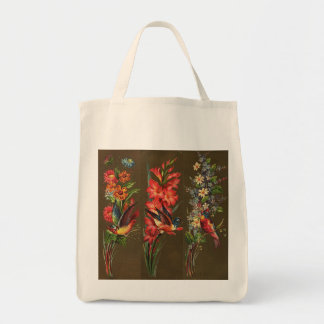 Victorian Birds and Blooms Tote Bags