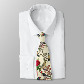 Victorian Birds and Roses Scrapbook Chintzy Retro Tie