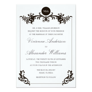 VICTORIAN BLACK & WHITE  | WEDDING INVITATION