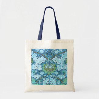 Victorian Blue Tote Bags