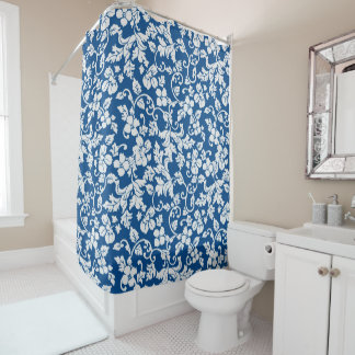 Victorian Blues Shower Curtain