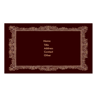Victorian Borders brown and gold Business Card Templates