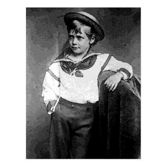 Victorian Boy Postcard