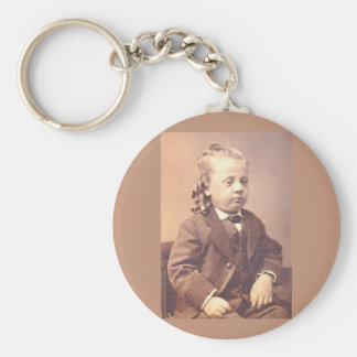 Victorian boy with unfortunate hair style key ring