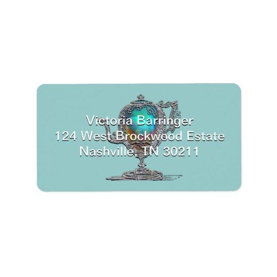 Victorian Bridal Shower Tea Party Label