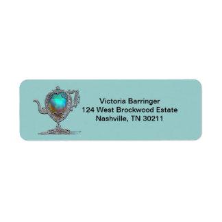 Victorian Bridal Shower Tea Party Return Return Address Label