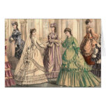 Victorian Bride and Attendants Greeting Card