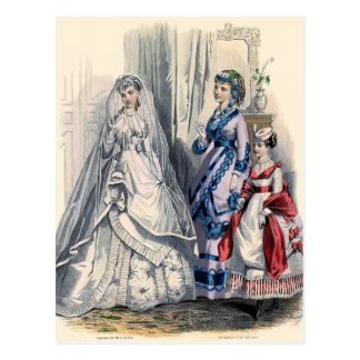 """""""Victorian Bride and Maids of Honor"""" Postcard"""