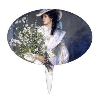Victorian bride wedding fashion cake pick