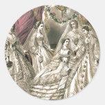 Victorian Brides Classic Round Sticker