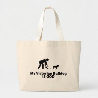 Victorian Bulldog Canvas Bag
