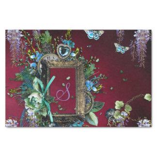 Victorian Burgundy Mist Lavender Wisteria frame Tissue Paper