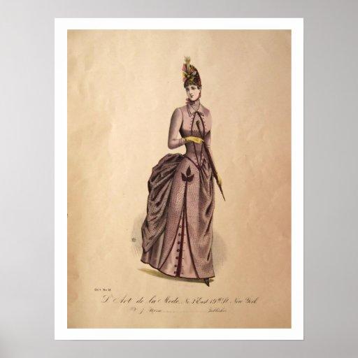 Victorian Bustle Dress Poster