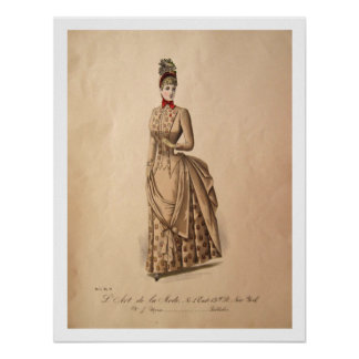 Victorian Bustle Dress Poster