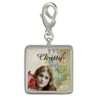 Victorian Cabbage Roses Woman Floral Charm
