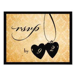 Victorian Chandelier • black & cream RSVP Custom Invites