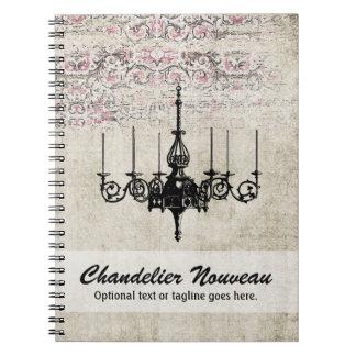 Victorian Chandelier Shabby Chic Vintage Damask Notebook