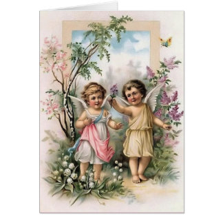 Victorian Cherubs Note Card Greeting Cards