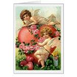 Victorian Cherubs with Heart Valentine's Day Card