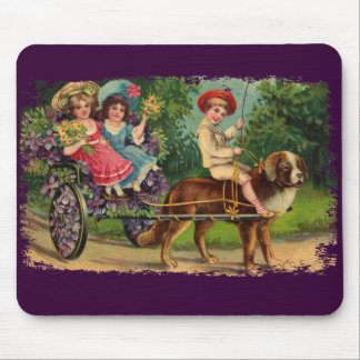 Victorian Children's Parade Painted Mousepad