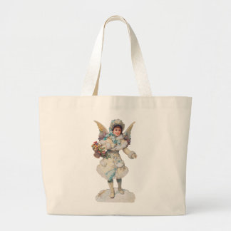 Victorian Christmas Angel Tote Bag