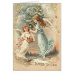 Victorian Christmas Angel Card