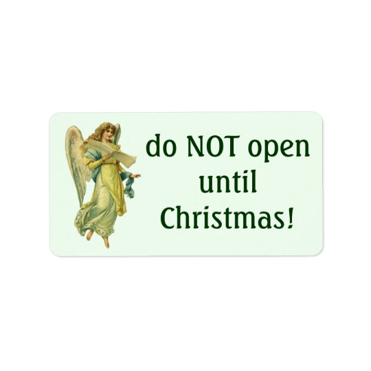 Victorian Christmas Angel, Gloria in Excelsis Deo Address Label