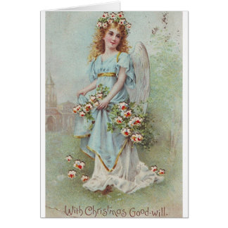 Victorian Christmas Angel Greeting Card
