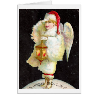 Victorian Christmas Angel Note Card
