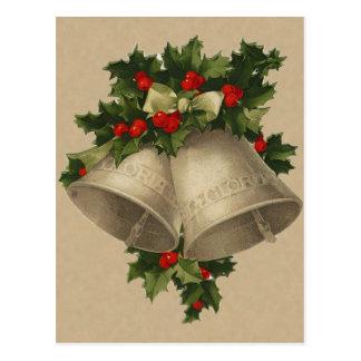 Victorian Christmas Bells Postcard