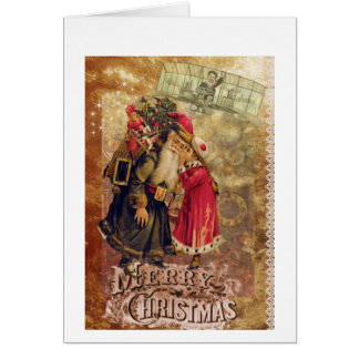 Victorian christmas card with a steampunk twist