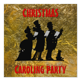 Victorian Christmas Caroling Party Card