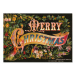 Victorian Christmas Gift Tags or Mini Greetings Pack Of Chubby Business Cards