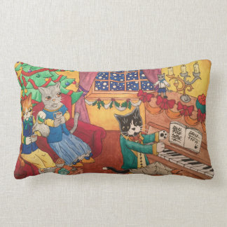 Victorian Christmas Lumbar Cushion