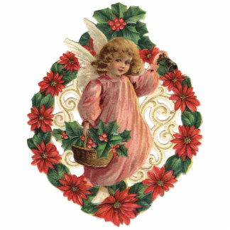 Victorian Christmas Ornament Photo Sculpture Decoration