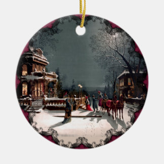 Victorian Christmas Party Ornament