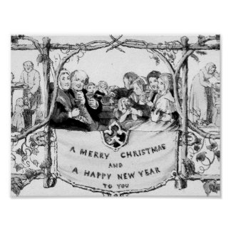 Victorian Christmas Poster